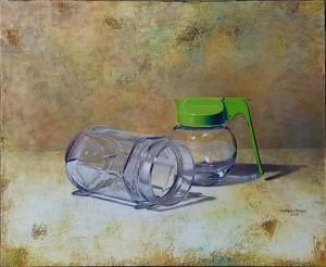 0112 Stefania Russo - Green-Reflex-colori-ad-olio-e-grafite-su-tela-trattata-a-scagliola-50x60-0112