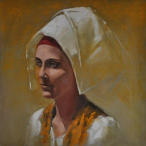 0121 Vanni Rocca - Costume di Cabras-Olio su tela-70x70-2-0121
