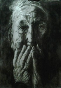 0123 Walter Marin - Studio-per-anziana2-olio-su-tela-100x140-0123