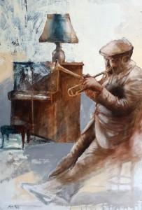 0125 Walter Marin - Trombettista-con-piano-olio-su-tela-60x70-0125