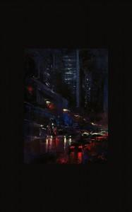 0126 Patrick J Signorelli - City-black-olio-su-tela-cm-54x69